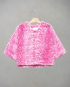 Pink leopard kids coat
