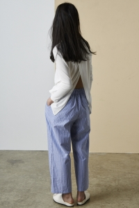 [SOLD OU]BLUE STRIPE TROUSERS