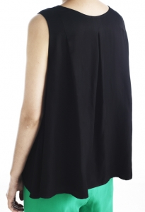 29_BLACK SILK SLEEVELESS