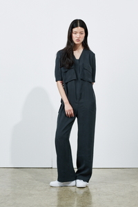 [2차 리오더]BLACK ZIPPER JUMPSUIT