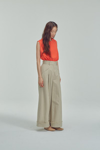 [3차 리오더]BEIGE WIDE TROUSERS