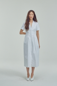 [4차리오더]WHITE DENIM DRESS