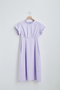 [2차 리오더]LAVENDER BUTTON BACK DETAIL DRESS