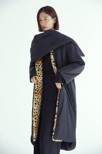FUAX FUR MIX PADDING COAT