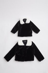 BLACK FAUX FUR COAT for KIDS