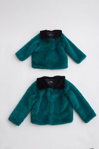 GREEN FAUX FUR COAT for KIDS