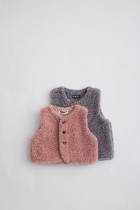 FAUX FUR VEST for KIDS (2 COLOR)