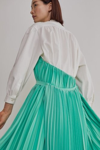 PLEATS HALTERNECK DRESS