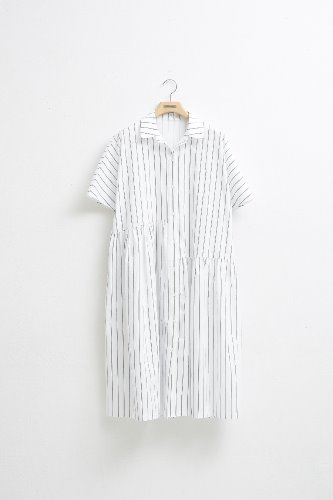 UNBALANCE SHIRRING DRESS