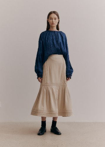 ROPE DETAIL SKIRT_BEIGE