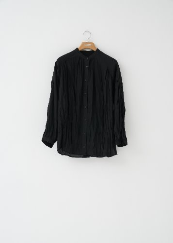 WRINKLE BLOUSE_BLACK