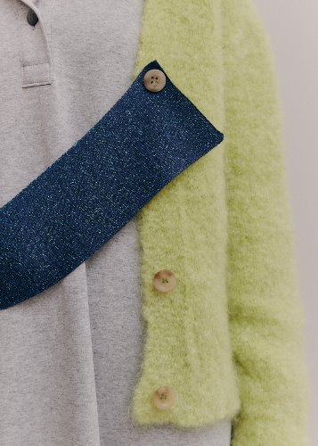 [9/28 한정수량오픈]BELT MOHAIR CARDIGAN_LIME